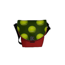Tennis Ball Sports Messenger Bag