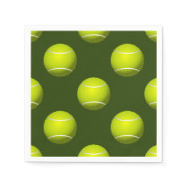 Tennis Ball Sports Paper Napkin