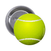 Tennis Ball Sports Pinback Button