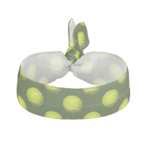 Tennis Ball Sports Ribbon Hair Tie