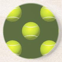 Tennis Ball Sports Sandstone Coaster