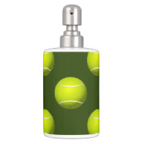 Tennis Ball Sports Soap Dispenser And Toothbrush Holder