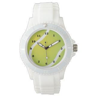 Tennis Ball sports white silicone watch