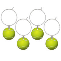 Tennis Ball Sports Wine Charm