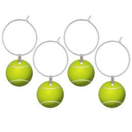 Tennis Ball Sports Wine Charm