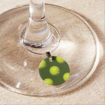 Tennis Ball Sports Wine Glass Charm