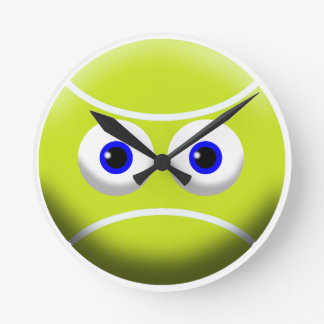 TENNIS BALL STARE ROUND CLOCK