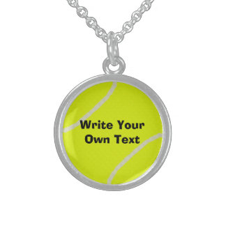 Tennis Ball Sterling Silver Necklace