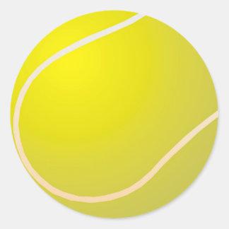 Tennis ball classic round sticker