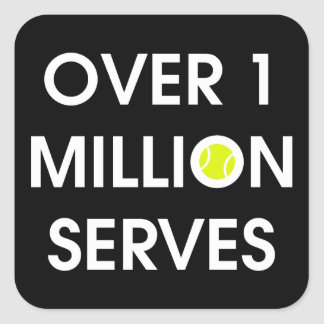 Tennis Ball Square Sticker