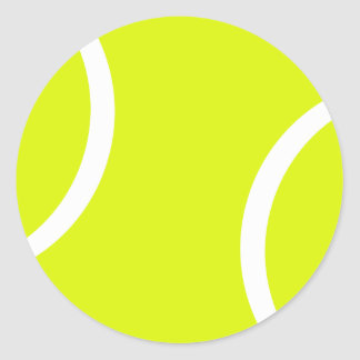Tennis Ball Round Stickers