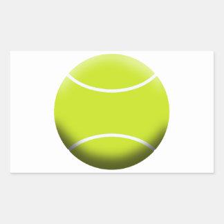 TENNIS BALL RECTANGULAR STICKER