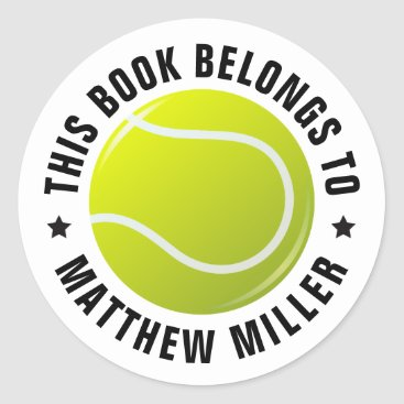 Professional Business Tennis ball sticker with custom text