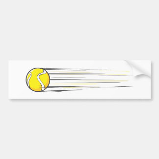 Tennis Ball Swish Bumper Sticker