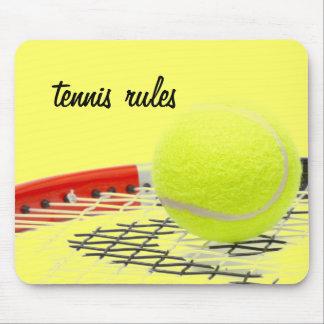 Tennis ball TENNIS RULES mousepad