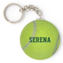 Tennis Ball Texture Personalized Keychain