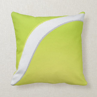 Tennis ball texture throw pillow