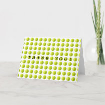 Tennis Ball Thank You Card