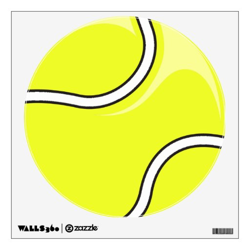 Wall Art Stickers Vector : Tennis ball vector graphic wall decals zazzle
