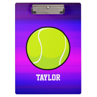 Tennis Ball; Vibrant Violet Blue and Magenta Clipboards
