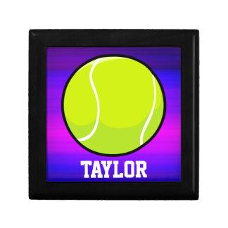 Tennis Ball; Vibrant Violet Blue and Magenta Keepsake Box