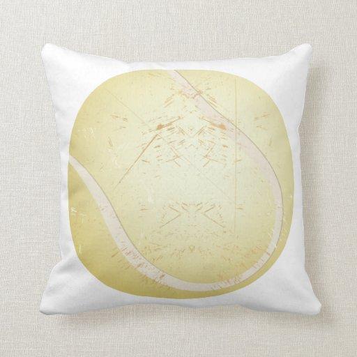tennis ball vintage pillow