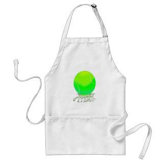 tennis ball w spit adult apron