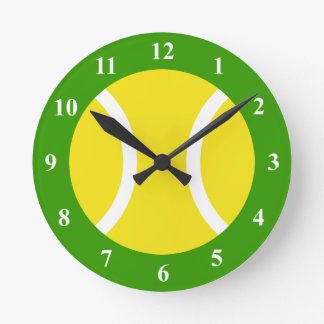 Tennis ball wall clock with numbers