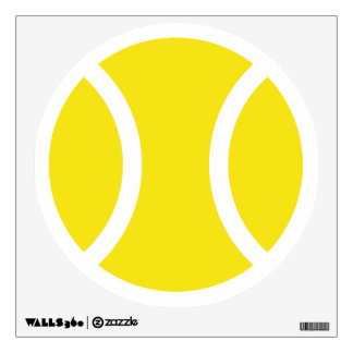 Tennis ball wall decal for home party / club house