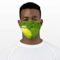 Tennis ball with beer cloth face mask