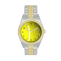 Tennis Ball with Black Numbers Wristwatch