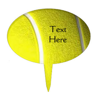 Tennis Ball with Black Tex Cake Topper