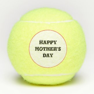 Tennis ball with Happy  Mother's Day