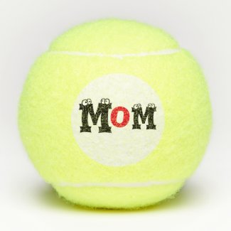 Tennis ball with Happy  Mother's Day Mom