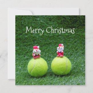 Tennis ball with Santa Claus Christmas Holiday