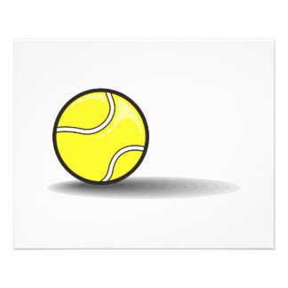tennis ball with shadow flyer