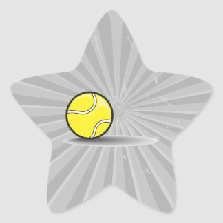 tennis ball with shadow star sticker