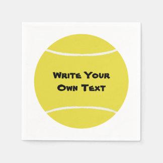 Tennis Ball - Write Your Own Text Disposable Napkins