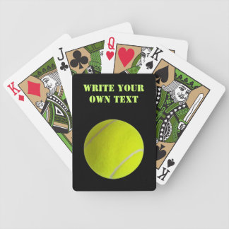 Tennis Ball - Write Your Own Text Bicycle Poker Cards