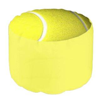 Tennis Ball Yellow Ottoman Round Pouf
