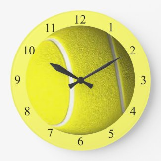 Tennis Ball Yellow Sport Wall Clock
