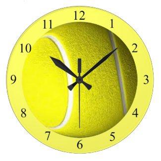 Tennis Ball Yellow Sport Wall Clock