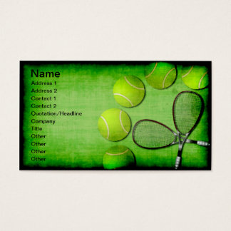 Tennis Balls and Rackets Business Card