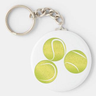 Tennis Balls Basic Round Button Keychain