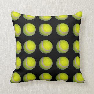 Tennis_Balls,_Black_Yellow_Lounge_Cushion. Throw Pillow