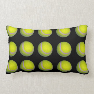 Tennis_Balls,_Black_Yellow_Lumbar_Cushion. Lumbar Pillow