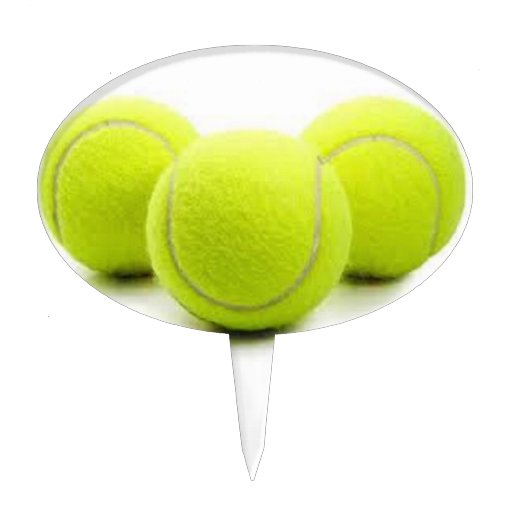 Tennis balls cupcake/cake topper cake topper | Zazzle
