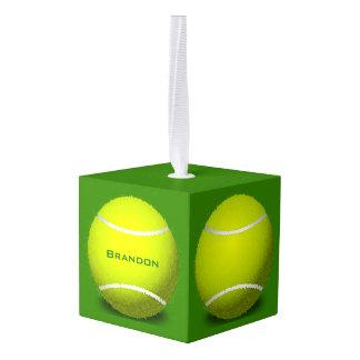 Tennis Balls Design Cube Ornament