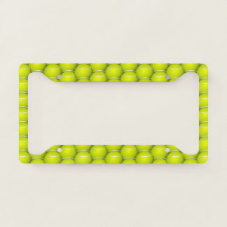 Tennis Balls Design License Plate Frame