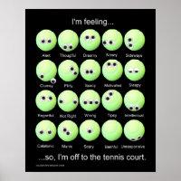 Tennis Balls Emotions Poster